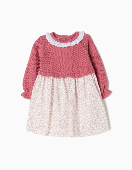 Vestido Combinado Rosa