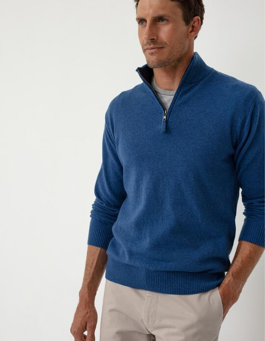 Baby Wool Jumper, Men, Blue
