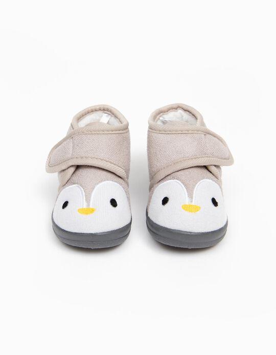Slippers for Baby Girls 'Penguin', Grey