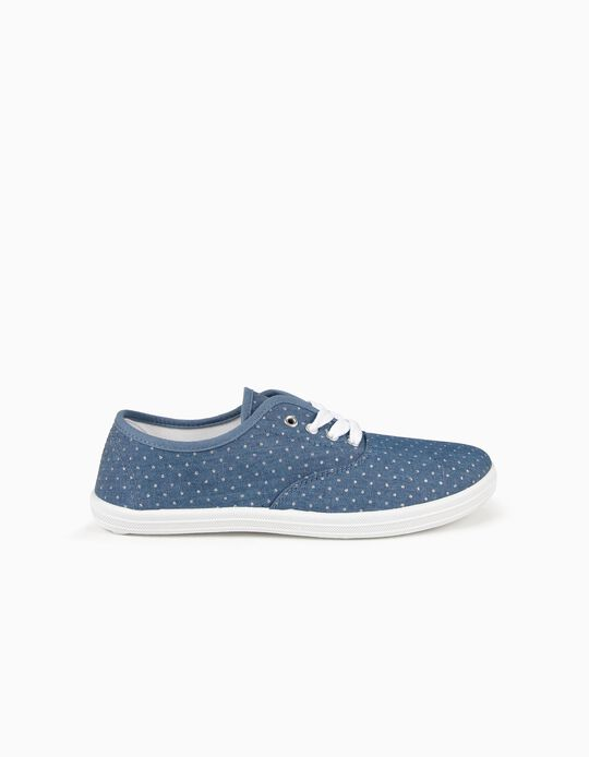 Trainers in Dotted Fabric