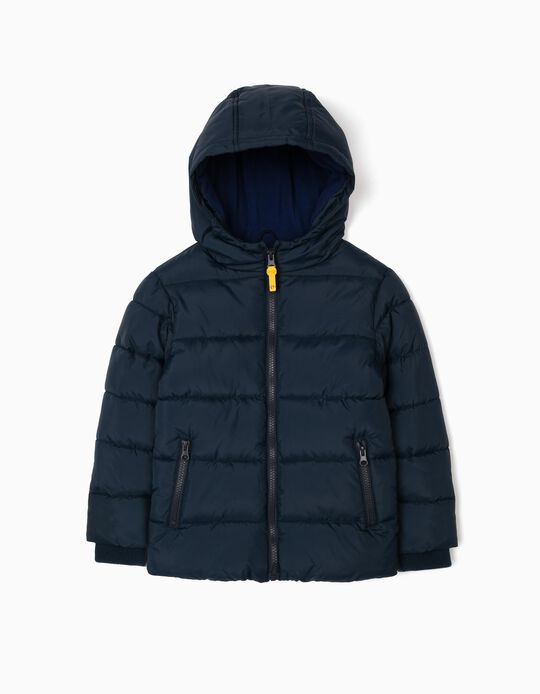 Puffer Jacket for Boys, Dark Blue