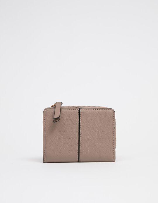 Purse in Faux Leather for Women, Beige