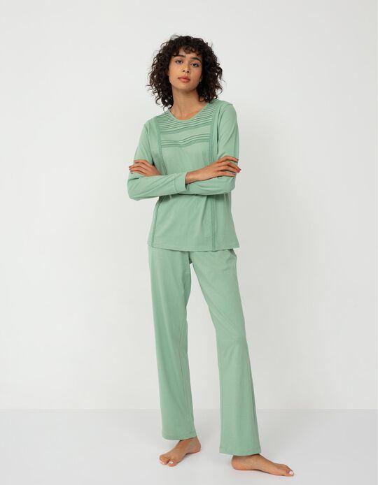 Cotton Pyjamas for Women, Green