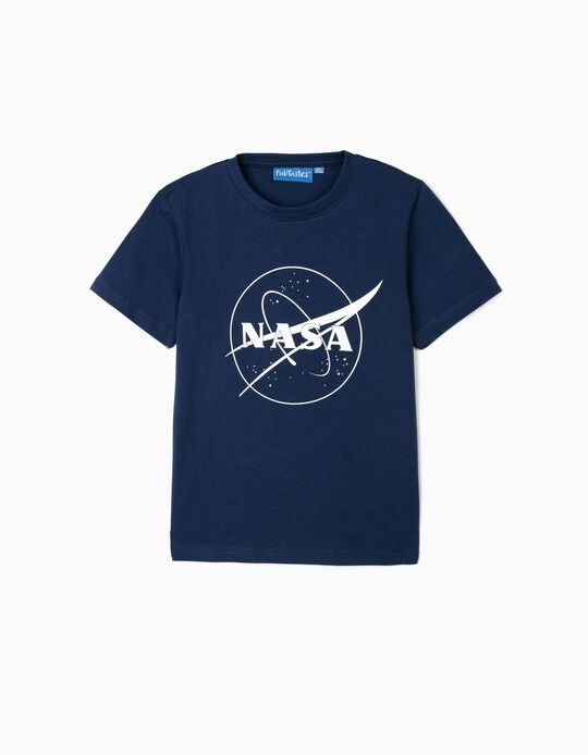 T-Shirt for Boys, 'NASA', Blue