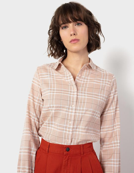 Chequered Shirt, with Ruffle