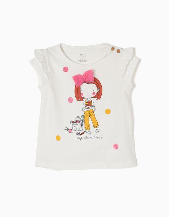 T-shirt Branca Organic Carrots