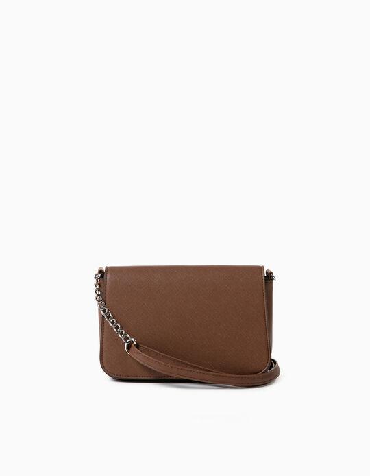 Small Crossbody Handbag, Brown