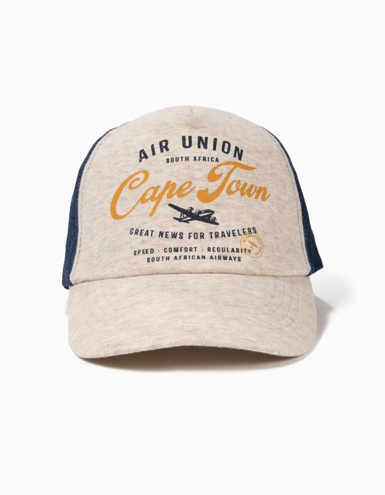 Cap for Boys 'Air Union', Grey and Denim