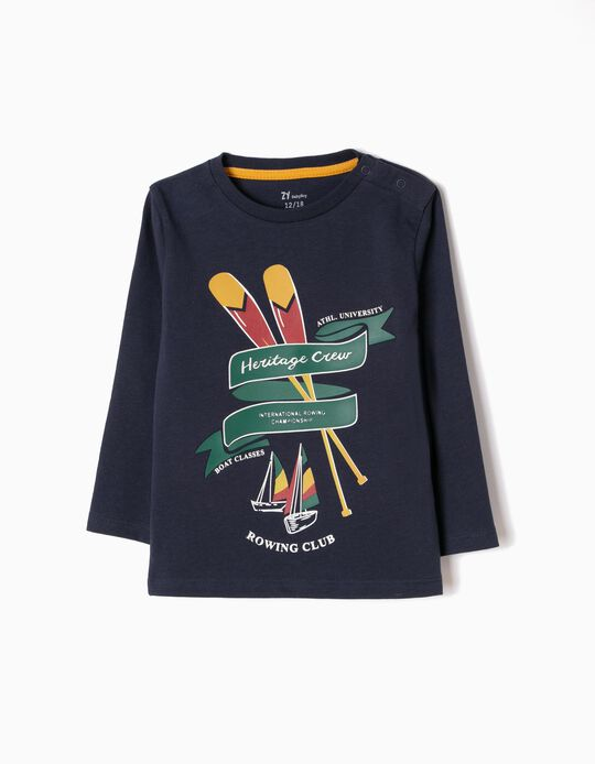 T-shirt Manga Comprida Rowing Club Azul