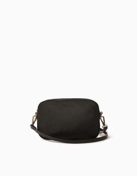 Nylon Crossbody Bag for Women, Black
