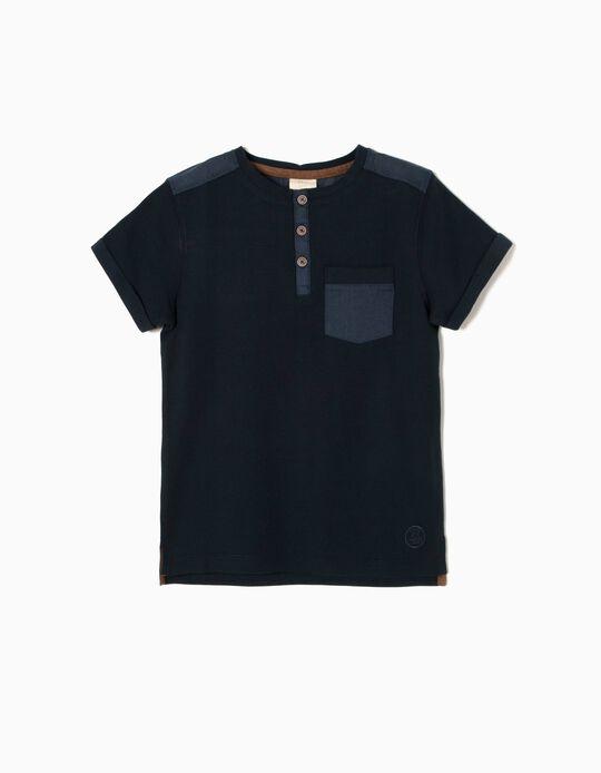 T-shirt Azul Marinho