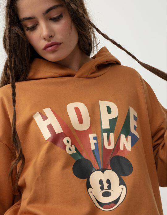 Disney Sweatshirt with Hood, Women, Camel