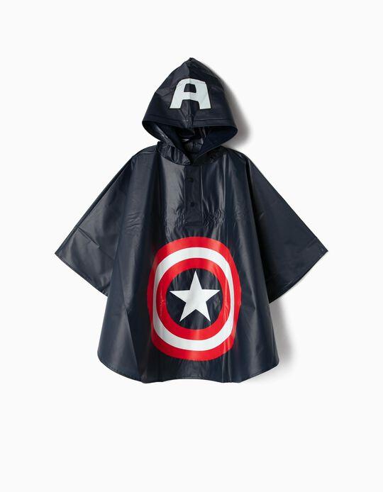 Capa de Chuva para Menino 'Captain America', Azul Escuro