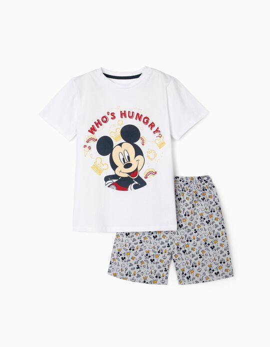 Pijama para Menino 'Hungry Mickey', Branco/Cinza