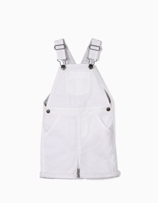 Dungarees for Baby Boys, White