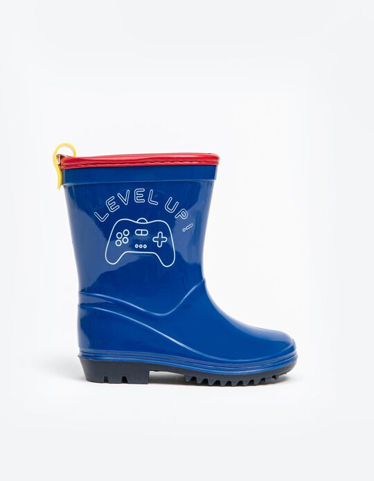Patent Wellies, Baby Boys, Blue