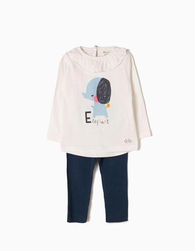 T-shirt Manga Comprida e Leggings Elephant