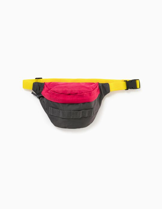 Bum Bag for Boys, Grey/Red/Yellow