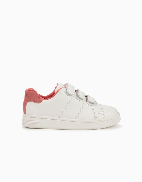 Sneakers for Girls 'ZY 1996', White and Pink