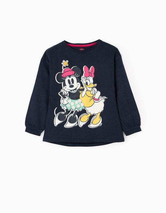 Long Sleeved T-Shirt for Girls 'Minnie', Dark Blue