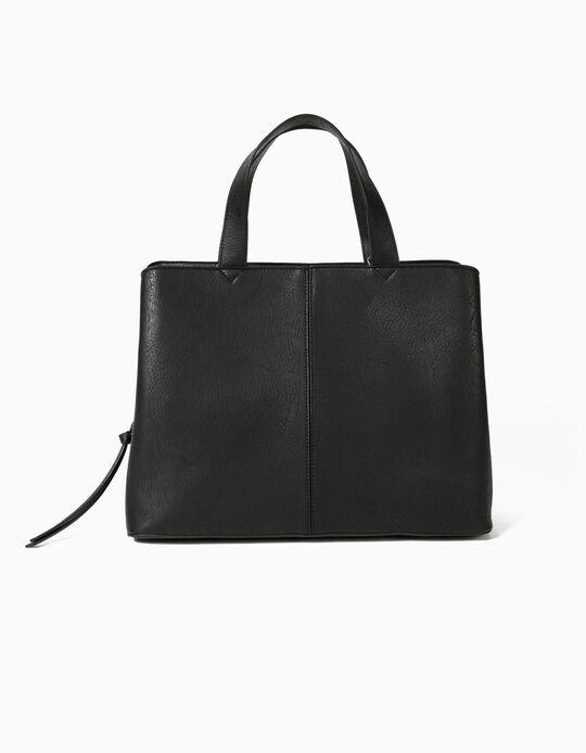 TOTE BAG WITH CROSSI, BLACK2, ÚNICO