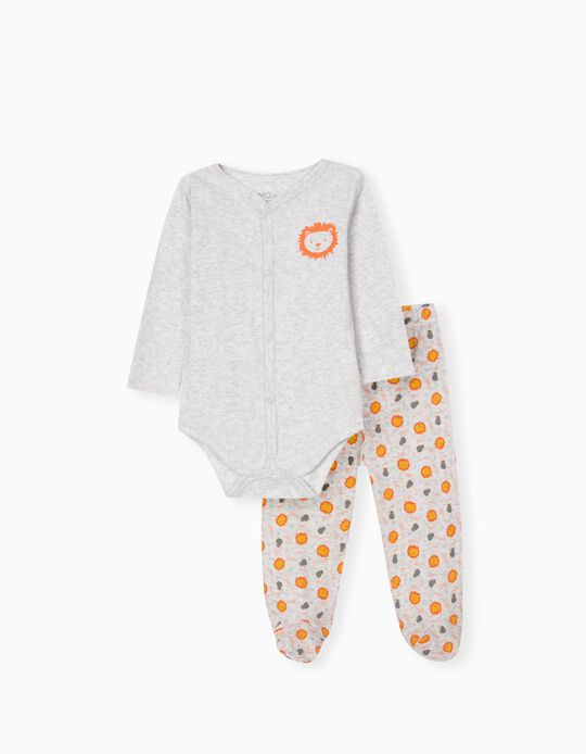 Bodysuit & Trousers for Babies, Light Grey