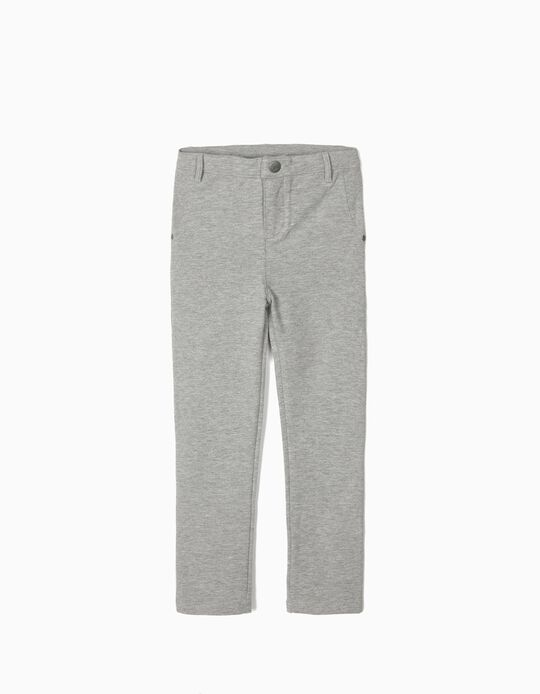 Jersey Trousers for Girls, Grey