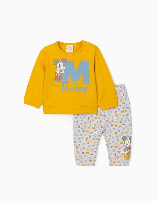 2-piece set for newborn 'Mickey', yellow/grey