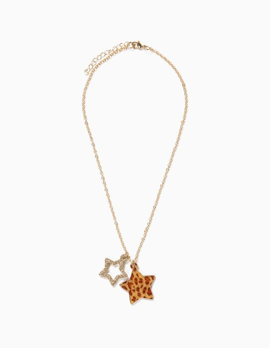 Colar Dourado Estrelas