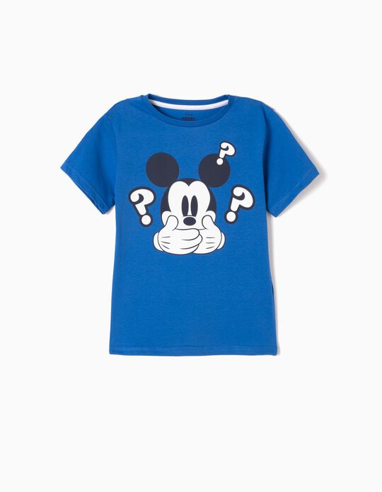 T-shirt Azul Mickey