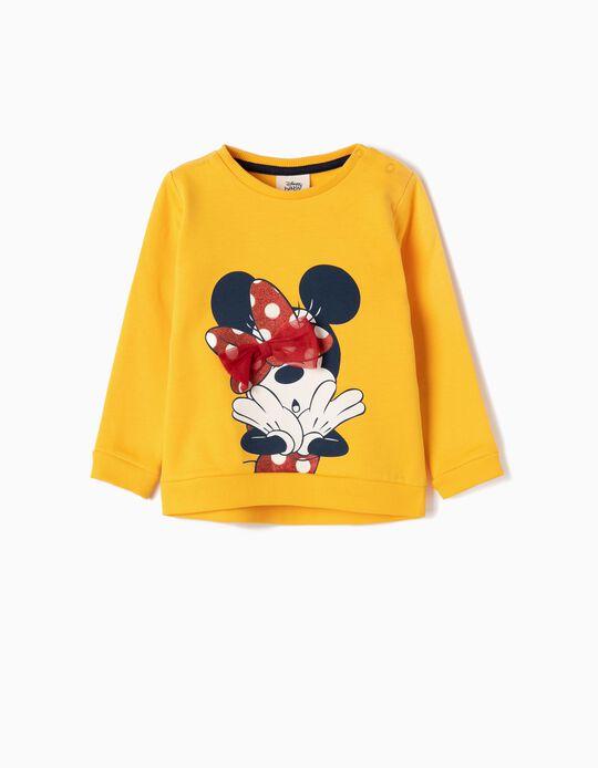 Sweatshirt para Bebé Menina 'Minnie', Amarelo