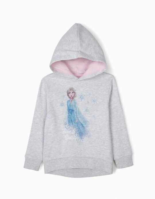 Sweatshirt com Capuz Elsa Frozen II Cinzenta