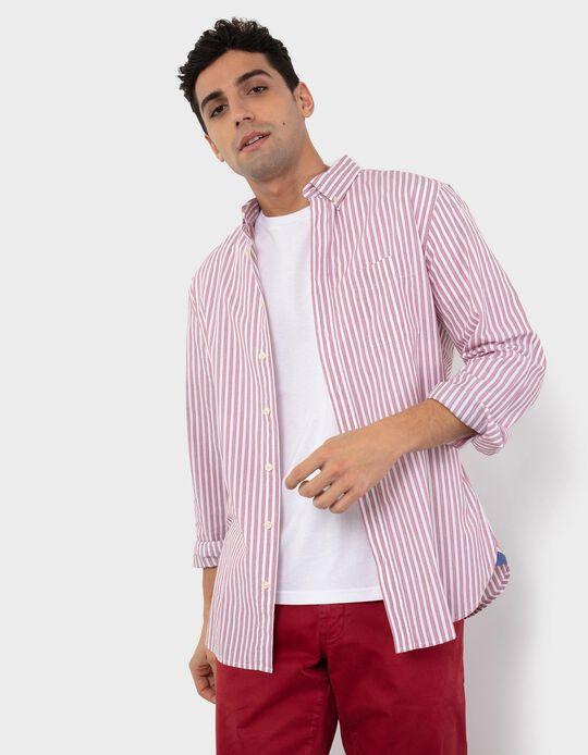 Camisa Regular Fit, Homem, Vermelho