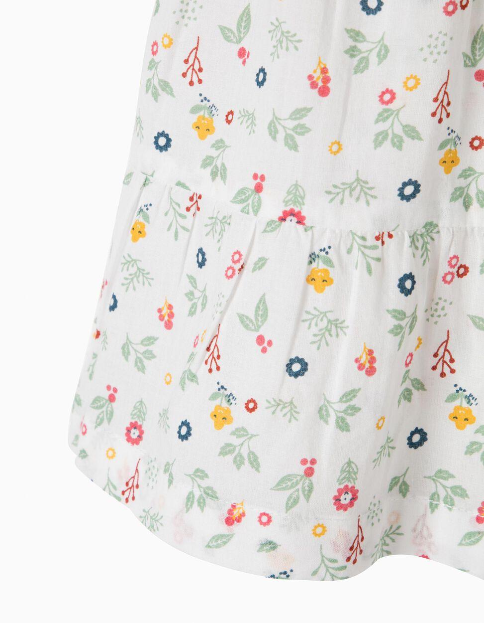 Blusa com Folhos e Florzinhas