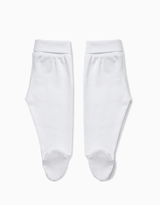 Pack of White Footed Trousers
