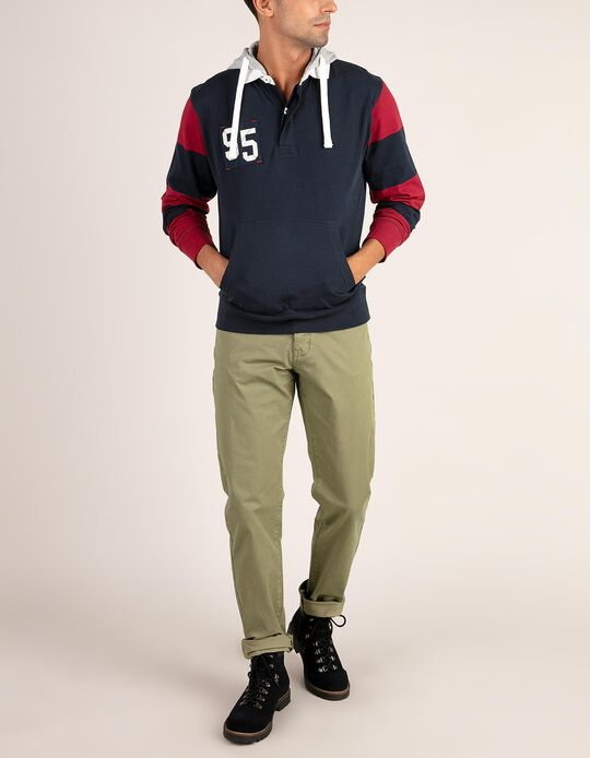 Polo shirt with hood
