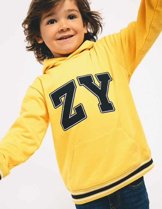 Hoodie for Boys 'ZY', Yellow