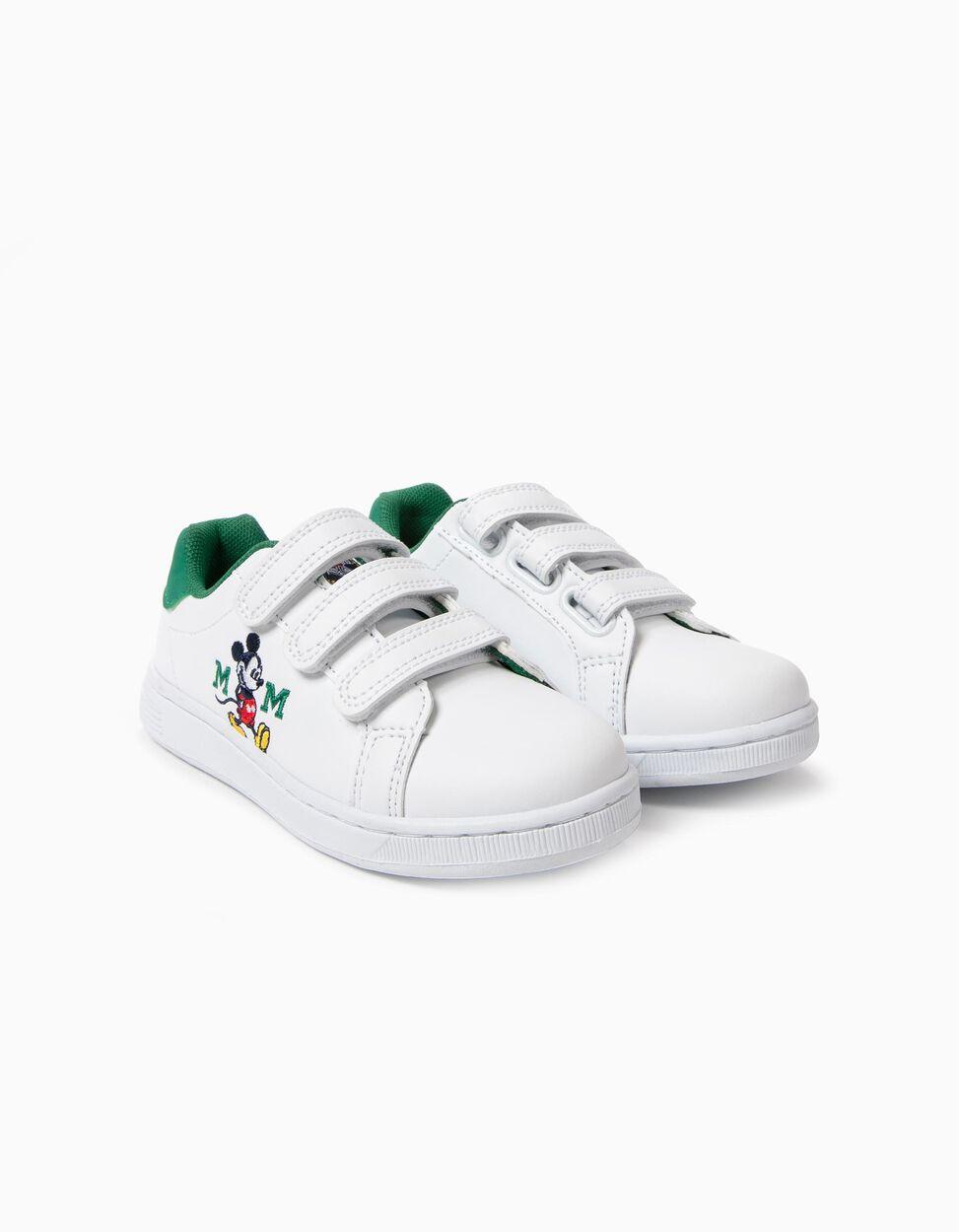 Sapatilhas com Velcro Mickey Brancas