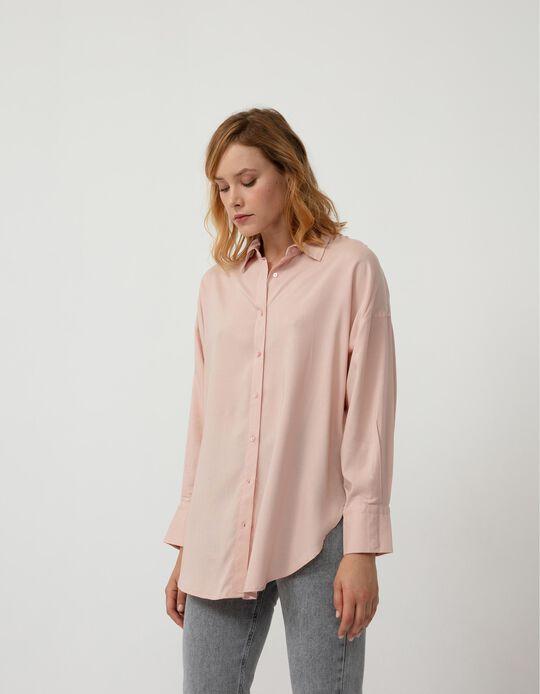 Oversized Blouse, Women, Pink