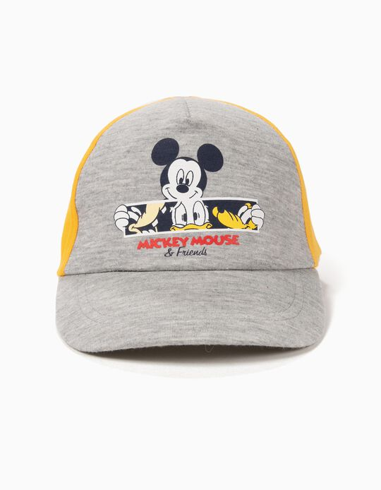 Boné para Bebé Menino 'Mickey & Friends', Amarelo e Cinza