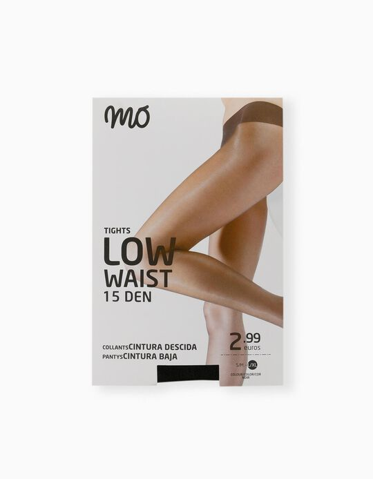 Low Waist Tights, 15 Den