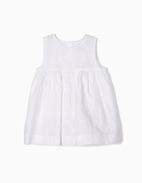 Dress with Bloomers for Newborn Girls, White