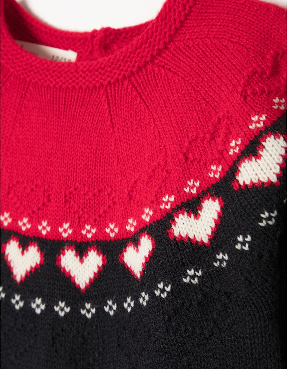 Vestido Malha Christmas Heart