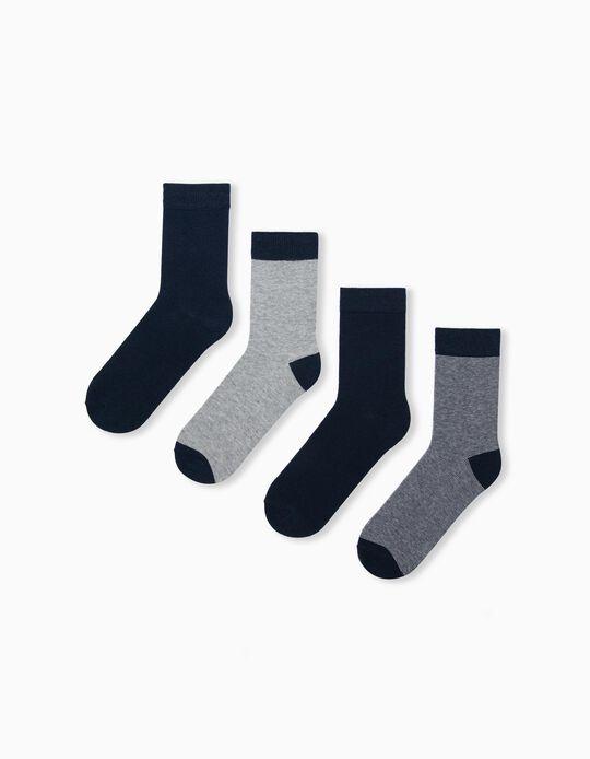4 Pairs of Socks for Men, Dark Blue
