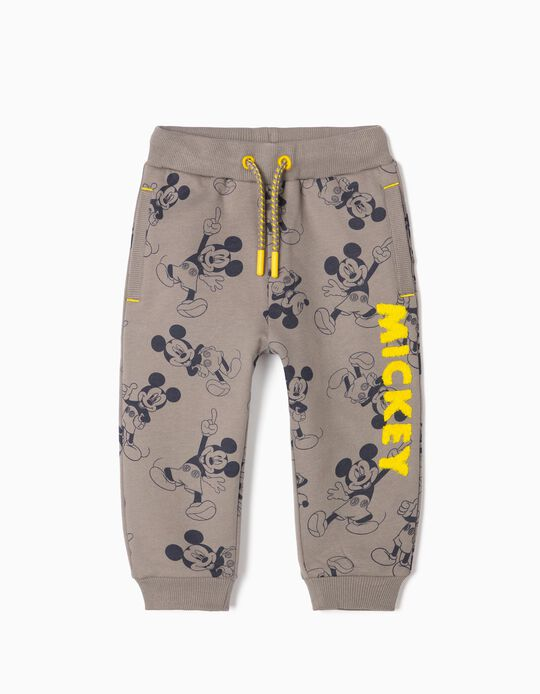 Joggers for Baby Boy 'Mickey', Grey