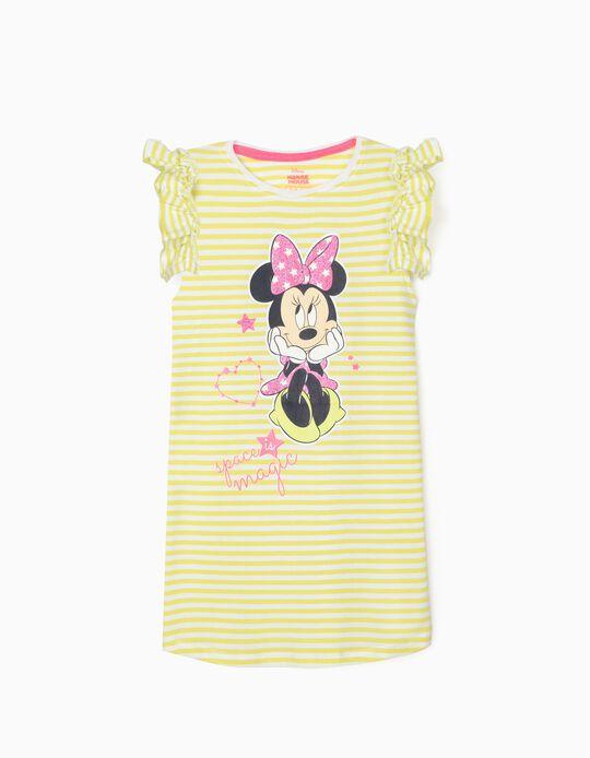 Striped Dress for Girls, 'Minnie Magic', Lime Green/White