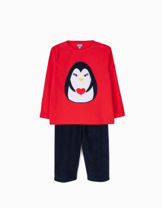 Conjunto de pijama malha polar Pinguim