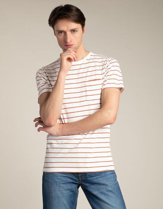 Striped slub T-shirt