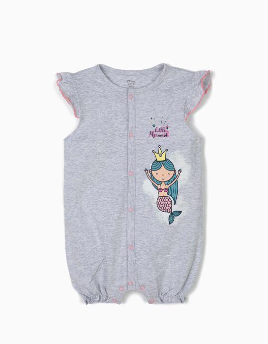 Babygrow para Bebé Menina 'Little Mermaid', Cinza