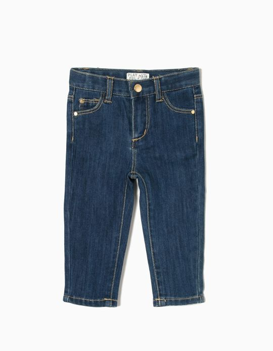 Slim Fit Jeans for Baby Boys, Dark Blue